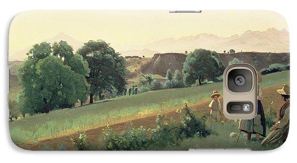 Landscape At Mornex Galaxy S7 Case by Jean Baptiste Corot