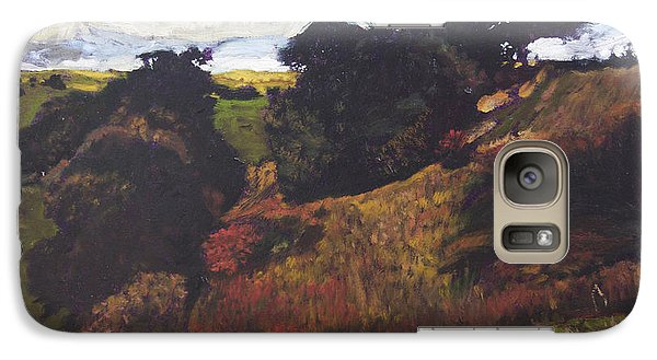 Galaxy Case featuring the painting Landscape At Rhug by Harry Robertson