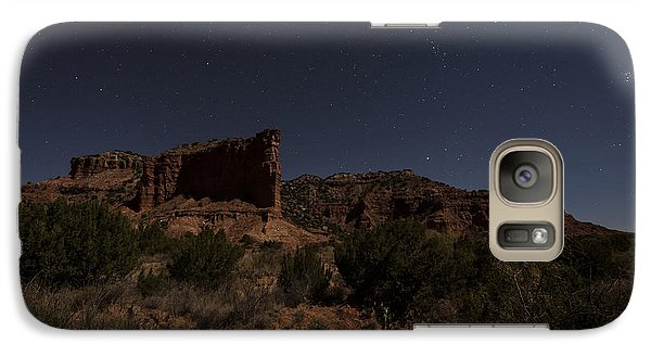 Galaxy Case featuring the photograph Landscape In The Moonlight by Melany Sarafis