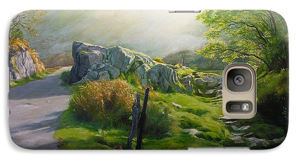 Galaxy Case featuring the painting Landscape In Wales by Harry Robertson