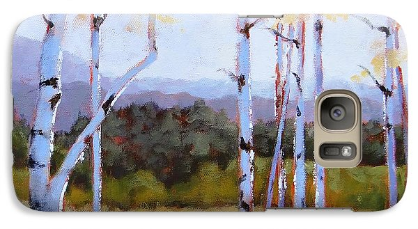 Galaxy Case featuring the painting Landscape Series 2 by Laura Lee Zanghetti