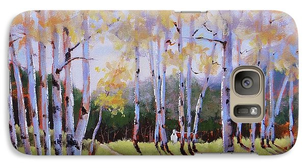 Galaxy Case featuring the painting Landscape Series 3 by Laura Lee Zanghetti