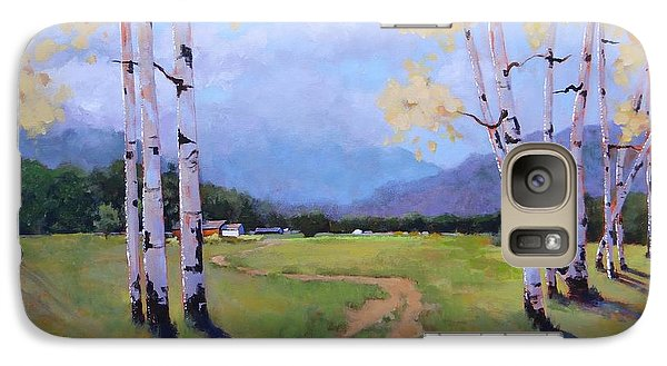 Galaxy Case featuring the painting Landscape Series 4 by Laura Lee Zanghetti