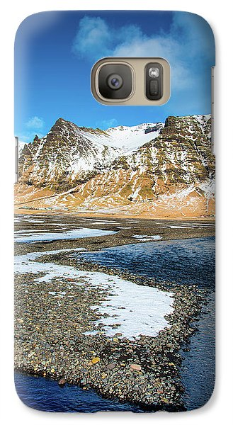 Galaxy Case featuring the photograph Landscape Sudurland South Iceland by Matthias Hauser