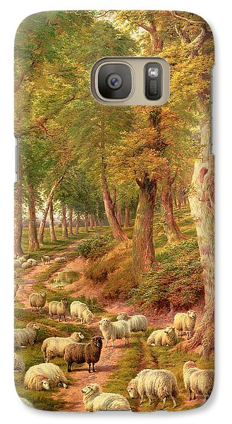 Rural Scenes Galaxy S7 Case - Landscape With Sheep by Charles Joseph