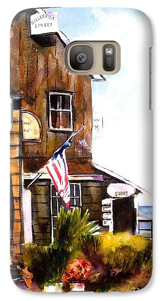 Galaxy Case featuring the painting Langley Washington by Marti Green
