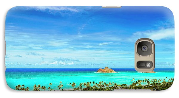 Galaxy Case featuring the photograph Lanikai Beach From The Pillbox Trail by Aloha Art