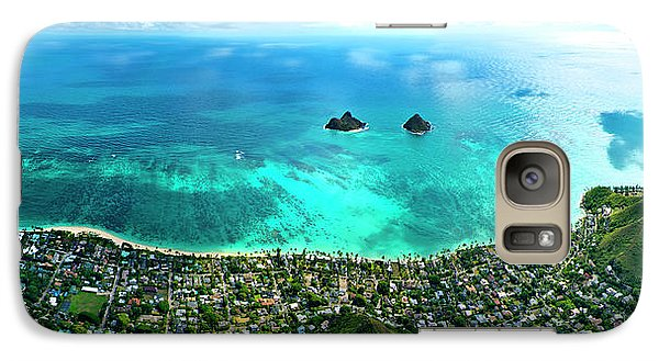 Helicopter Galaxy S7 Case - Lanikai Over View by Sean Davey