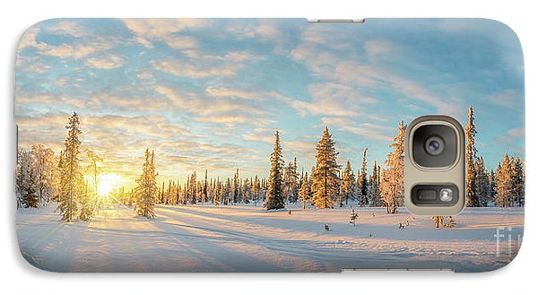 Galaxy Case featuring the photograph Lapland Panorama by Delphimages Photo Creations