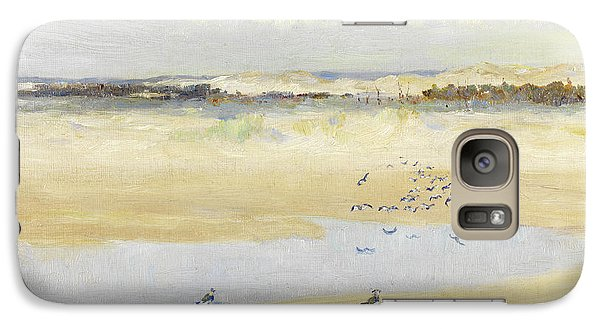 Lapwings By The Sea Galaxy Case by William James Laidlay