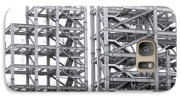 Galaxy Case featuring the photograph Large Scale Construction Project With Steel Girders by Yali Shi