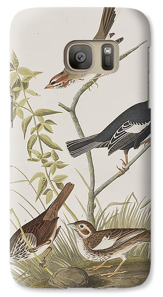 Lark Finch Prairie Finch Brown Song Sparrow Galaxy S7 Case by John James Audubon