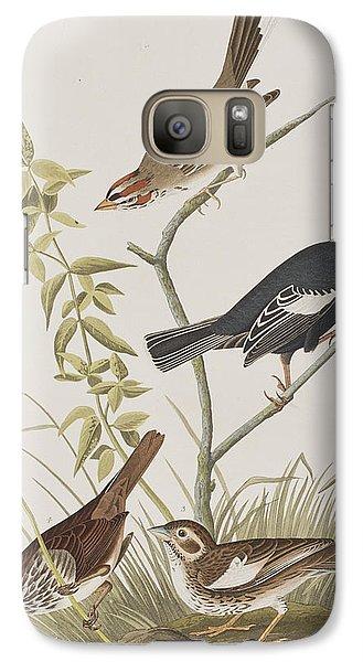 Lark Finch Prairie Finch Brown Song Sparrow Galaxy S7 Case by John James Audubon
