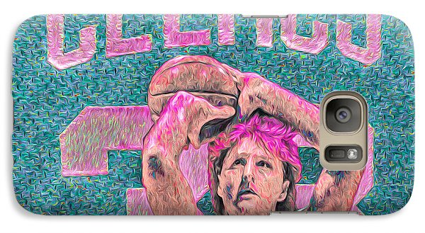 Larry Bird Boston Celtics Digital Painting Pink Galaxy S7 Case by David Haskett