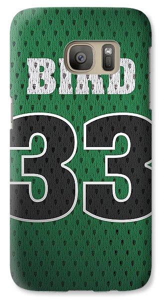 Larry Bird Boston Celtics Retro Vintage Jersey Closeup Graphic Design Galaxy S7 Case