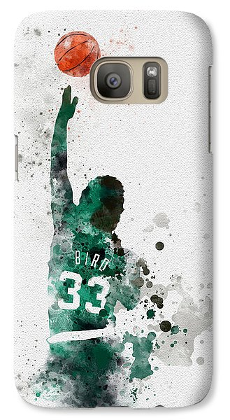 Larry Bird Galaxy S7 Case by Rebecca Jenkins
