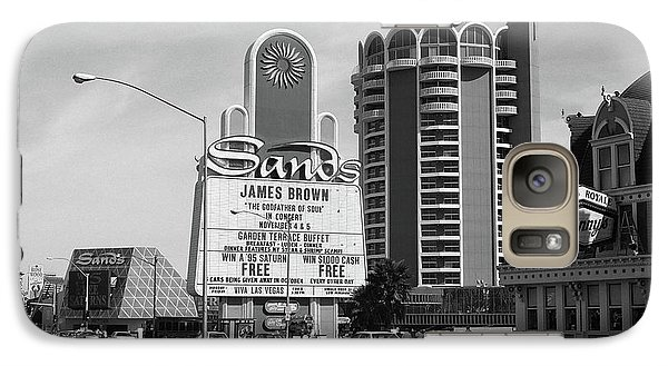 Galaxy Case featuring the photograph Las Vegas 1994 #1 Bw by Frank Romeo