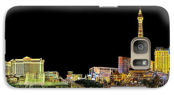 Las Vegas At Night Galaxy S7 Case by Az Jackson