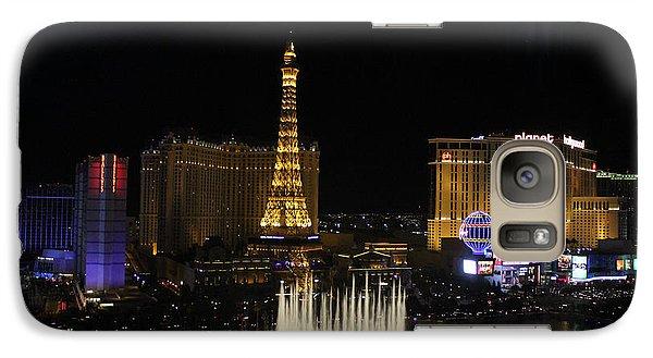 Galaxy Case featuring the photograph Las Vegas By Night by Wilko Van de Kamp