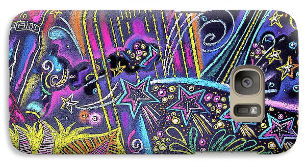 Galaxy Case featuring the painting Las Vegas by Leon Zernitsky