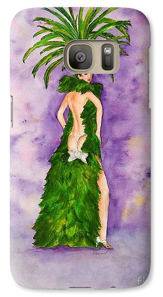 Galaxy Case featuring the painting Las Vegas Show Girl by Vicki  Housel