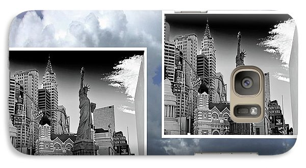 Galaxy Case featuring the painting Las Vegas,new York by Athala Carole Bruckner