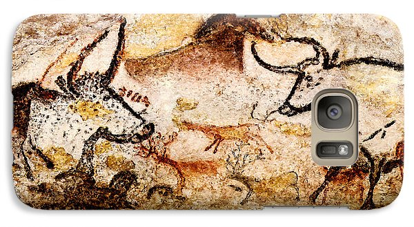 Lascaux Hall Of The Bulls - Deer And Aurochs Galaxy S7 Case