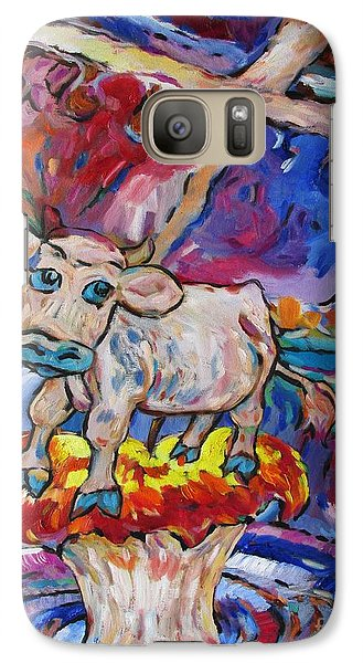 Galaxy Case featuring the painting Last Cow Standing by Dianne  Connolly