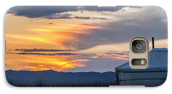 Galaxy S7 Case featuring the photograph Last Golden Light, Elsen Tasarkhai, 2016 by Hitendra SINKAR