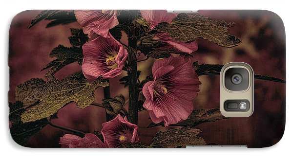 Galaxy Case featuring the photograph Last Hollyhock Blooms by Douglas MooreZart