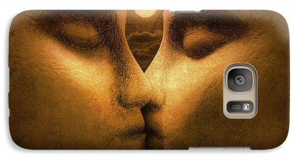 Galaxy Case featuring the photograph Moon Kiss by Jeff  Gettis
