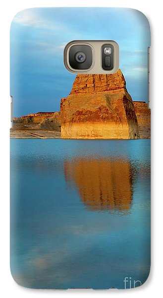 Galaxy Case featuring the photograph Last Light At Lone Rock by Mike Dawson