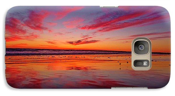 Last Light Topsail Beach Galaxy S7 Case by Betsy Knapp