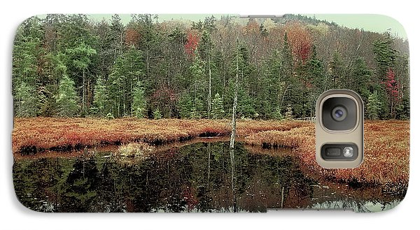 Galaxy Case featuring the photograph Last Of Autumn On Fly Pond by David Patterson