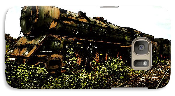 Galaxy Case featuring the painting Last Of The 309  Steam Train  by Iconic Images Art Gallery David Pucciarelli