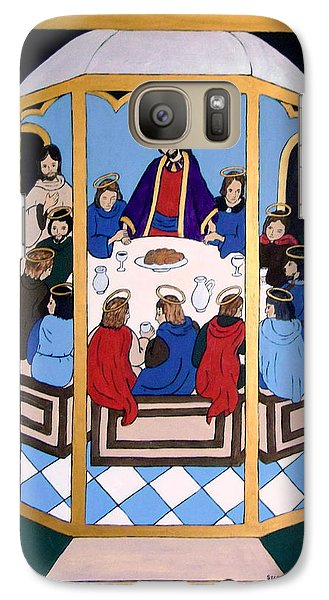 Galaxy Case featuring the painting Last Supper by Stephanie Moore