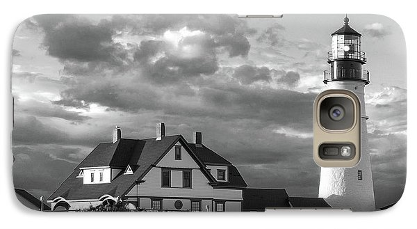 Galaxy Case featuring the photograph Late Afternoon Clouds, Portland Head Light  -98461-sq by John Bald