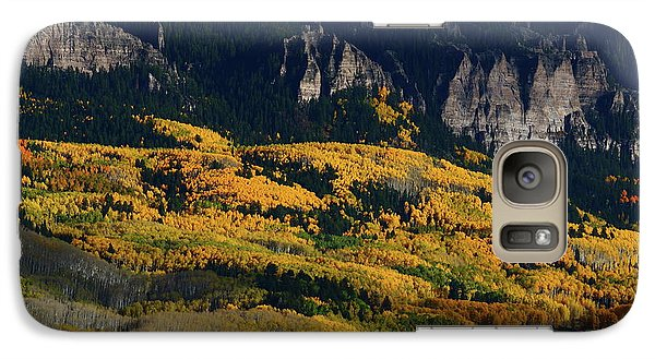 Galaxy Case featuring the photograph Late Afternoon Light On Aspen Groves At Silver Jack Colorado by Jetson Nguyen