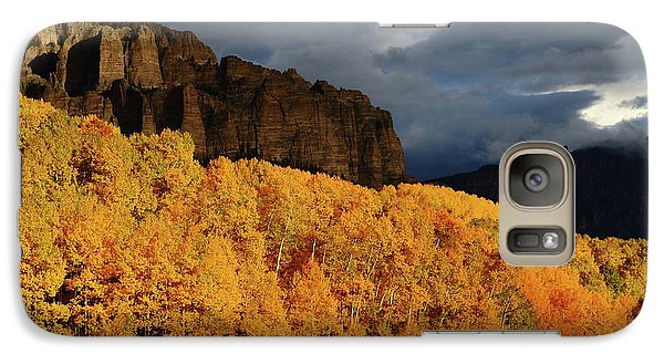 Galaxy Case featuring the photograph Late Afternoon Light On The Cliffs Near Silver Jack Reservoir In Autumn by Jetson Nguyen