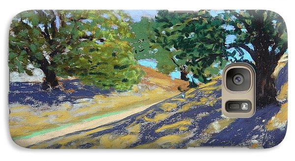 Galaxy Case featuring the painting Late Light's Shadows by Gary Coleman