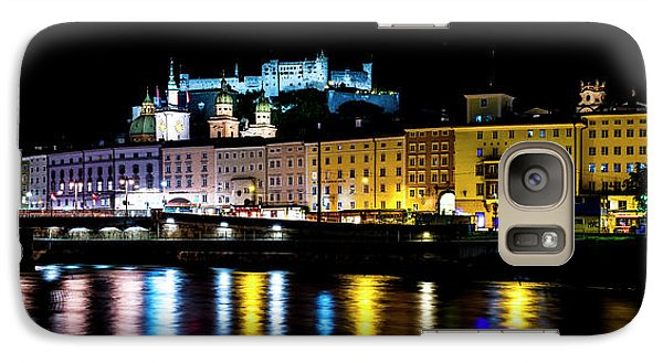 Galaxy Case featuring the photograph Late Night Stroll In Salzburg by David Morefield