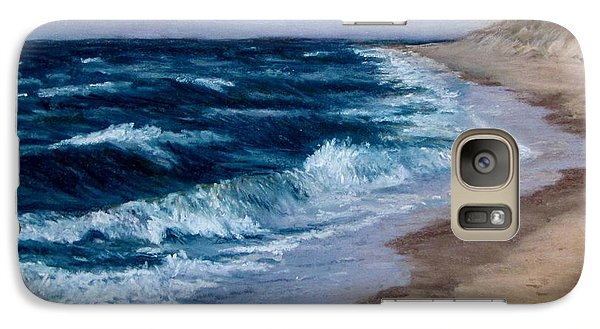 Galaxy Case featuring the painting Late Spring At Cold Storage Beach by Jack Skinner