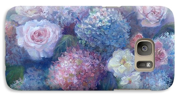 Galaxy Case featuring the painting Late Summer Bouquet by Bonnie Goedecke