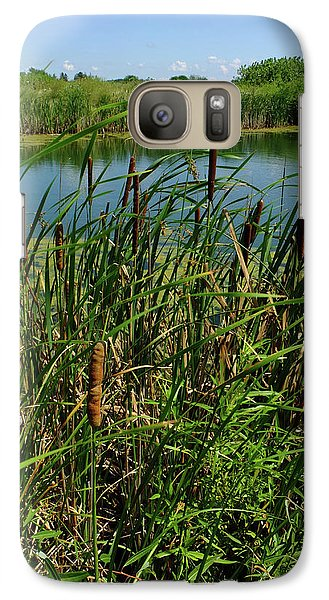 Galaxy Case featuring the photograph Late Summer Cattails by Scott Kingery