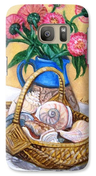 Galaxy Case featuring the painting Late Summer by Laura Aceto
