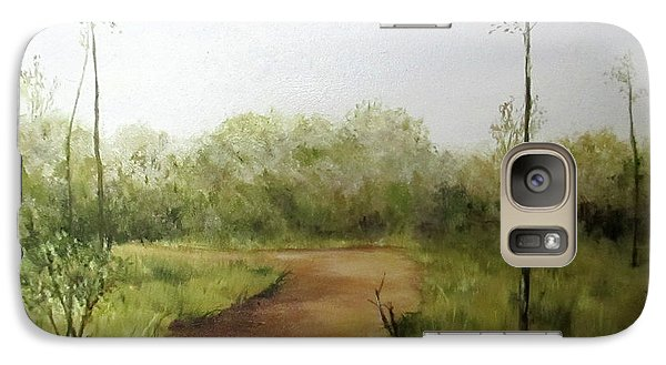 Galaxy Case featuring the painting Late Summer Walk by Roseann Gilmore