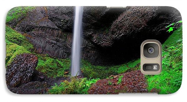 Galaxy Case featuring the photograph Latourell Falls Oregon by Jonathan Davison