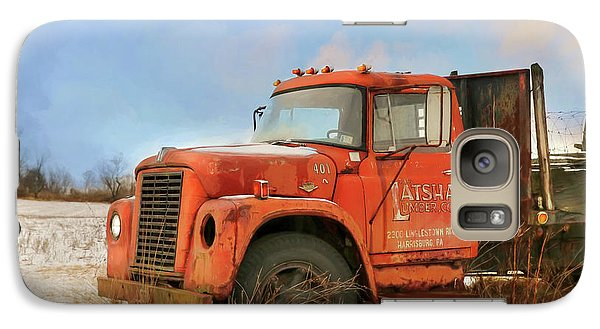 Galaxy Case featuring the photograph Latsha Lumber Truck by Lori Deiter