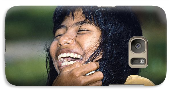 Galaxy Case featuring the photograph Laughing Out Loud by Heiko Koehrer-Wagner