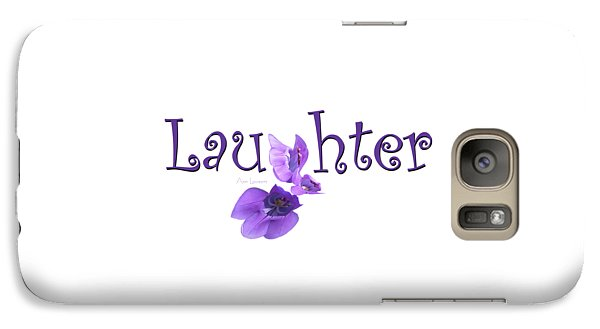 Galaxy Case featuring the digital art Laughter Shirt by Ann Lauwers